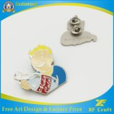 Contactos plateados oro de encargo del emblema del metal del esmalte del regalo del recuerdo con cualquie insignia (XF-BG09)