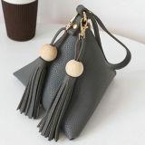 Monedero de los bolsos de embrague de las señoras del triángulo de la manera pequeño con las borlas Sy7900
