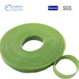 Sujetador de nylon verde militar de Hook&Loop, cinta de sujeción, Coser-en el gancho de leva y el bucle