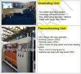 Thermoforming機械を傾ける自動ペットコップ