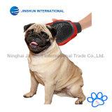 우수한 질 2-1 애완 동물 손질 고양이 & 개 &ndash를 위한 고무 장갑 공구; 벨크로 결박 &ndash를 가진 머리 제거제 Mitt를 귀여워하십시오; 1개 크기는 모두를 적합하다