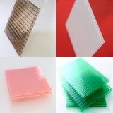 feuille creuse de Sun de feuille de polycarbonate de Jumeau-Mur de 6mm