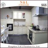 Gabinete de cozinha personalizado do PVC da forma do bloco liso U