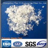 Fibra di poliestere della fibra dell'animale domestico della graffetta per il calcestruzzo dell'asfalto