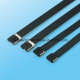 Kurbelgehäuse-Belüftung beschichtete Verschluss-Reißverschluss-Gleichheit der Edelstahl-Kabelbinder-O