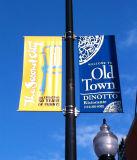 Двойник нестандартной конструкции встал на сторону знамена Поляк улицы печатание логоса