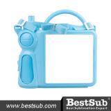 Коробки обеда Plastichandle с синью вставки (BFH46071LB)