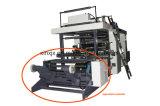 油圧ローディングおよび4つのカラーフレキソ印刷の印字機を荷を下すこと