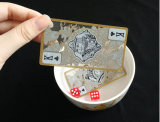 Hochwertige transparente Plastic/PVC Spielkarten mit Goldrand-/-schürhaken-Karten