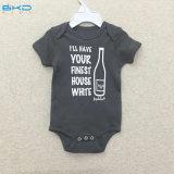 아기 의복에 의하여 빗질되는 면 유아 Bodysuits를 인쇄하는 스크린