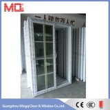 Puerta del vidrio del PVC de la puerta deslizante del marco del PVC de la fábrica de Mingqi