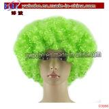 Синтетическое вспомогательное оборудование волос парика Afro костюмирует выдвиженческие подарки промотирования (C3008)