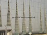 De aluminio de nido de abeja metálico de pared de cortina