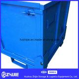 Caixa de pálete de aço de dobramento da logística resistente para a venda