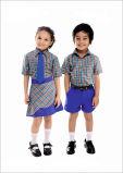 Modèle primaire de chemise de polo d'Unifrom de qualité et d'uniforme scolaire de circuits