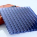 Feuille creuse UV antibrouillard de polycarbonate de Potected de garantie de 10 ans