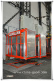 elevador dobro de alta velocidade /Hoist do passageiro da construção da gaiola 1t*2