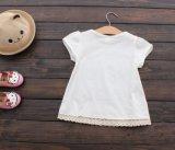 Katoenen van 100% Korte Sleeved T-shirts voor Meisjes 2t-6t