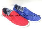 人のスリップオンの注入のズック靴の余暇の履物の靴(FFDL1230-05)