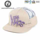 Cappello registrabile del camionista di Snapback di Hip Hop di qualità con la zona tessuta