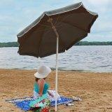 Сталь зонтик пляжа шалфейного зеленого цвета в 5 ног с функцией наклона