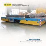 Indústria pesada usando vagão de transferência elétrica para tubos de aço