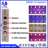 2000W LED는 실내 플랜트 Veg와 꽃을%s 가벼운 가득 차있는 스펙트럼을 증가한다