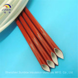 Sleeving кабеля смолаы силикона изоляции втулки стекла волокна электрической залакированный втулкой