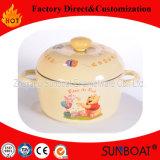 Caçarola do esmalte de Sunboat com o punho cerâmico com tampa do esmalte