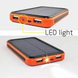 caricatore doppio portatile impermeabile del USB del caricatore 9000ah della Banca solare di potere costruito in torcia elettrica del LED