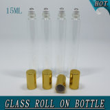 15ml Slim Transparent Roll on Perfume Bottle Glass