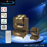 Mini lumière principale mobile du DJ de matrice Pocket du matériel 4PCS RGBW 4in1