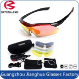 Erste Qualitätspolarisiertes kundenspezifisches Firmenzeichen Sports laufende kletternde komprimierende Sonnenbrillen Sonnenbrille-des auswechselbares Arm-Anti-ReitenUV400