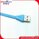 Cabo do USB do relâmpago dos acessórios do telefone móvel liso para V8