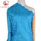 Tessuto blu del merletto della tessile di cotone di Candlace Turchia per il merletto del partito di Aso Ebi