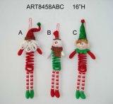 """16 """" H Santa et bonhomme de neige avec le corps de ressort, décoration d'Asst-Noël 3"""