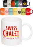 Tazas de té de cerámica grandes baratas impresas al por mayor