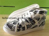 Fußbekleidung-Frauen-beiläufige Schuhe der Druck-Dame-Injection PU (FFYJ1224-02)