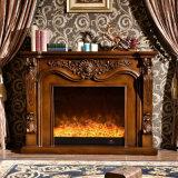 時代物の家具LEDの炎3Dの効果のヒーターの電気暖炉(331B)