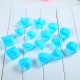 20PCS/Set FDAはシリコーン1カラーチョコレート型の/Iceの立方体の皿を承認した