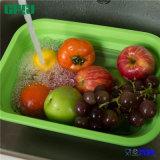 Food Grade Silicone Kitchenware Factory Cesta de armazenamento dobrável