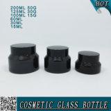 Reeks van de Verpakking van de Fles en van de Kruik van het Glas van de luxe de Kosmetische Amber