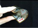 Transparenter Plastic/PVC Schürhaken-Spielkarten mit Goldrand