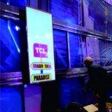 Deslizar el uso de la pantalla de la TV (YZ-P333) para la etapa comercial