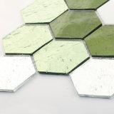 O mosaico de cristal verde do vidro manchado da mistura remenda telhas para a venda