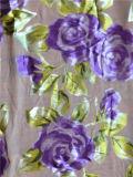 Queimar o Opal de seda impresso descarga no projeto floral