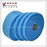 Roda lustrando de lustro do abrasivo cheio macio do disco do algodão