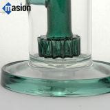 Tubo que fuma de cristal del tubo de agua con los engranajes Perc (AY006)
