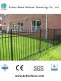 Clôture noire galvanisée assemblée facile de jardin d'agrément