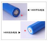 14500 3.2V 600mAh LiFePO4 Batterie-Lithium-Ionenbatterie-Satz für E-Zigarette